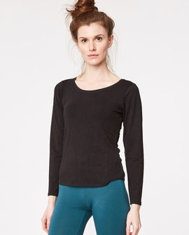 Bamboo Basic bluse, sort